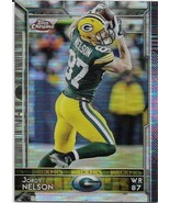 2015 TOPPS CHROME PULSAR REFRACTOR #21 JORDY NELSON PACKERS FREE SHIPPING - $2.99