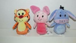 Winnie the Pooh's Disney Hallmark Itty Bittys Piglet Tigger Eeyore lot p... - $19.79