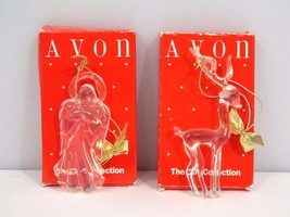 AVON Images of Christmas Ornaments Lot of 2 Angel and Reindeer Gift Coll... - $8.50