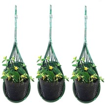 K'Dauz 3pcs Hanging Planter Basket Flower Plant Pots Decor Outdoor Indoo... - $20.19