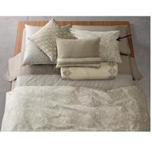 Calvin Klein Home Studio Sintra Standard Pillow Sham Flax Olive Cream - $89.09