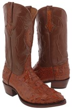 Mens Chedron All Real Hornback Crocodile Leather Cowboy Boots Western J Toe - $256.49