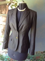 Anne Klein  Long Sleeve Light Brown Suit Jacket Blazer SZ 8 - $38.61