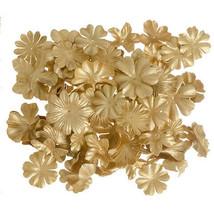 Darice Petals Floral Embellishment: Gold, 65 pieces w - $7.99