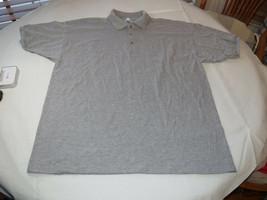 Gildan Activewear Ultrablend Heavyweight adult XL xlrg mens Grey polo shirt NOS - $13.36