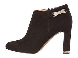 $398 Kate Spade Aldaz  Bow Ankle Boot Black Suede Pointed Toe Bootie Sho... - $147.00