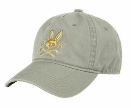 Psycho Bunny Men's Cotton Embroidered Strapback Sports Baseball Cap Hat image 4