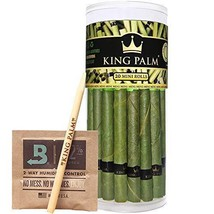 King Palm Mini Size Leafs | 20 Pack | Natural Slow Burning Pre-Rolled Palm Leafs
