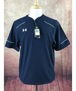 NWT Under Armour Ultimate Cage 1/4 Zip Pullover Jacket Navy Men's S MSRP... - $37.61
