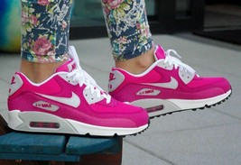 Nike Air Max 90 Hot Pink Athletic Shoes Trainers Sneakers size 6 NEW - $101.92