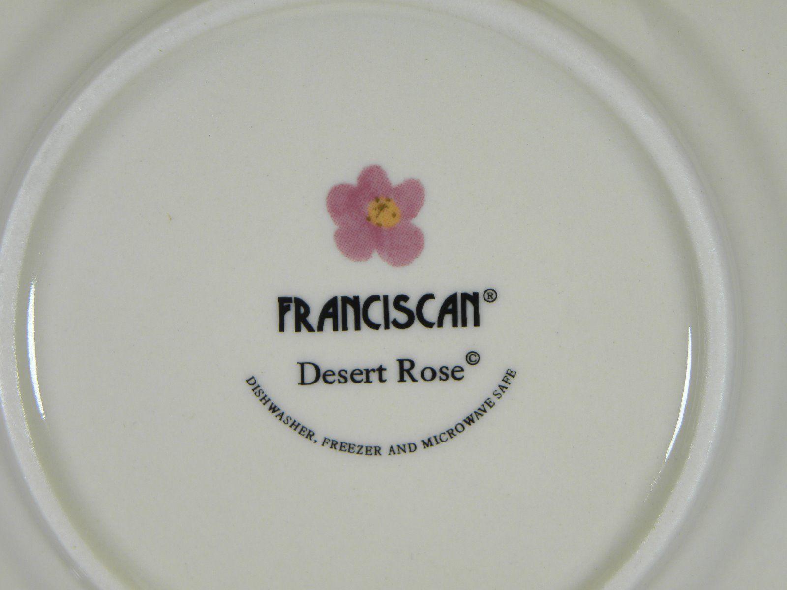 Franciscan Desert Rose Bread & Butter Plates Set of 4 BRAND NEW PRODUCTION