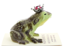 Hagen-Renaker Miniature Frog Prince Kissing Birthstone 01 January Garnet image 2