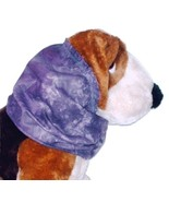 Dog Snood-Purple Batik Cotton-Spaniel-Afghan-Puppy REGULAR - $10.50