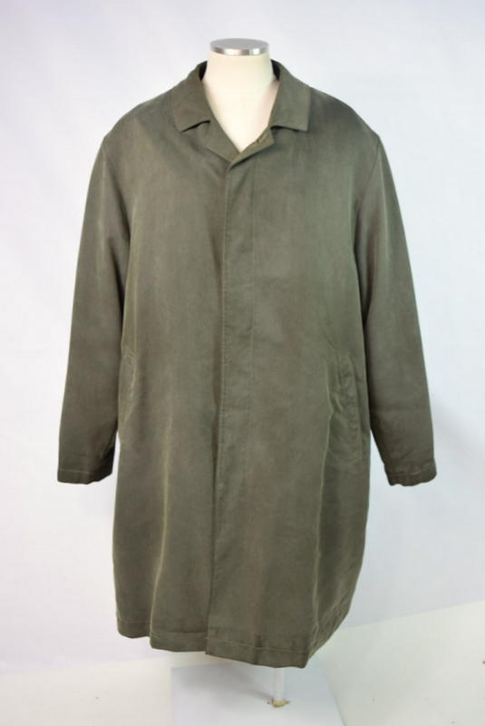 Primary image for SANYO Olive Micro Fiber w/ Wool Removable Liner Long Jacket Trench Coat Men 44 R