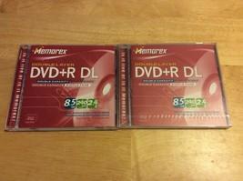 MEMOREX DVD+R DL new lot of 2 - $8.75