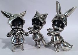 "Cherri Polly (Baketan) ""Brushed Silver"" Set of Cat, Rabbit, Fox Girls RARE and L image 2"