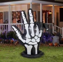 Halloween Yard Decoration Airblown Inflatable Prop Skeleton Hand Fingers... - £50.36 GBP