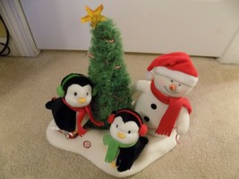 VERY MERRY TRIO Hallmark Jingle Pals Christmas Tree Snowman Penguin Music - $24.74