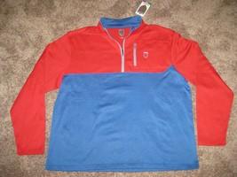 SIR Nick Faldo Claret & Green 1/4 Zip Pullover Golf Jacket L LG RED BLUE $75 1/2 - $28.01
