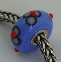 Authentic Trollbeads Glass Unique  (#136) Bead Charm, 13mm Diameter New - $33.24