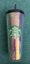 Starbucks 2020 Blue and Iridescent Sequin Cold Tumbler Venti 24 Oz NEW! - $52.00