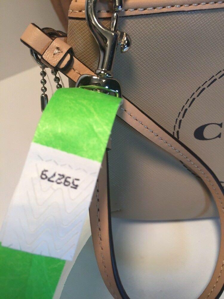 New Coach Wristlet  Horse & Carriage Medium F51788 Bag Light Khaki B18 image 10