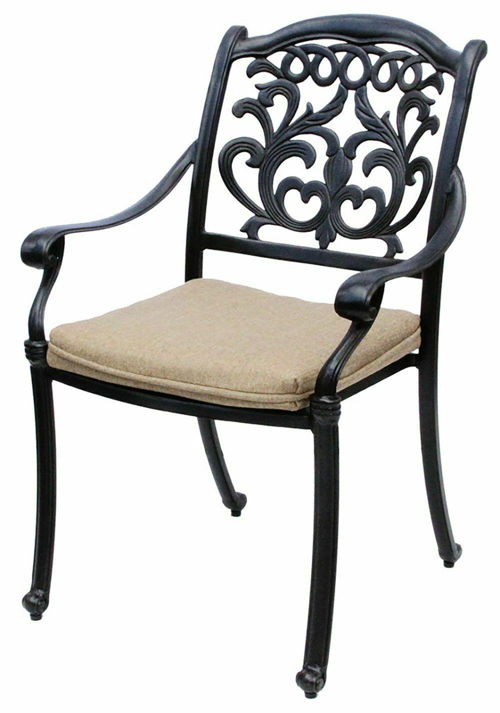 Patio dining Set 7Pc Cast Aluminum Furniture Outdoor Table Chair Flamingo Bronze image 2