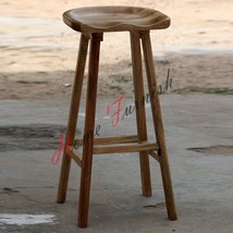 Industrial Tractor Seat Bar Stool Kitchen Dining Room Chair Solid Wood - $178.20