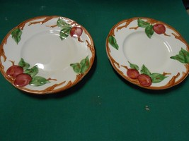 """-Magnificent FRANCISCAN  """"Apple"""" Pattern TWO -Bread-Salad-Dessert Plates - $6.64"""