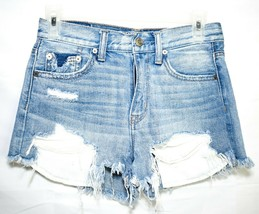 American Eagle Outfitters Vintage Hi-Rise Festival Jean Shorts Size 0 image 1