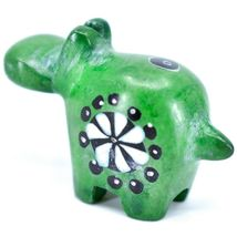 Tabaka Chigware Hand Carved Soapstone Green Hippopotamus Hippo Miniature Figure image 3
