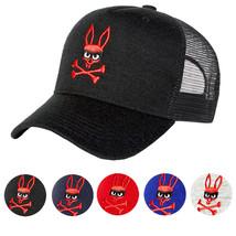 Psycho Bunny Men's Embroidered Snapback Mesh Mischief Baseball Cap Hat