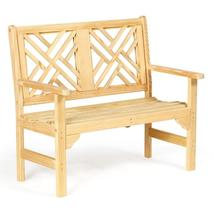 Leisure Lawns Amish Made Wood 4' Chippendale Garden Bench Model #941 - £214.04 GBP+