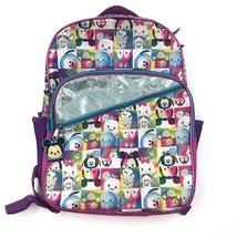 Disney Tsum Tsum Character Bookbag Girls School Backpack Pink Blue Zipper - $9.70