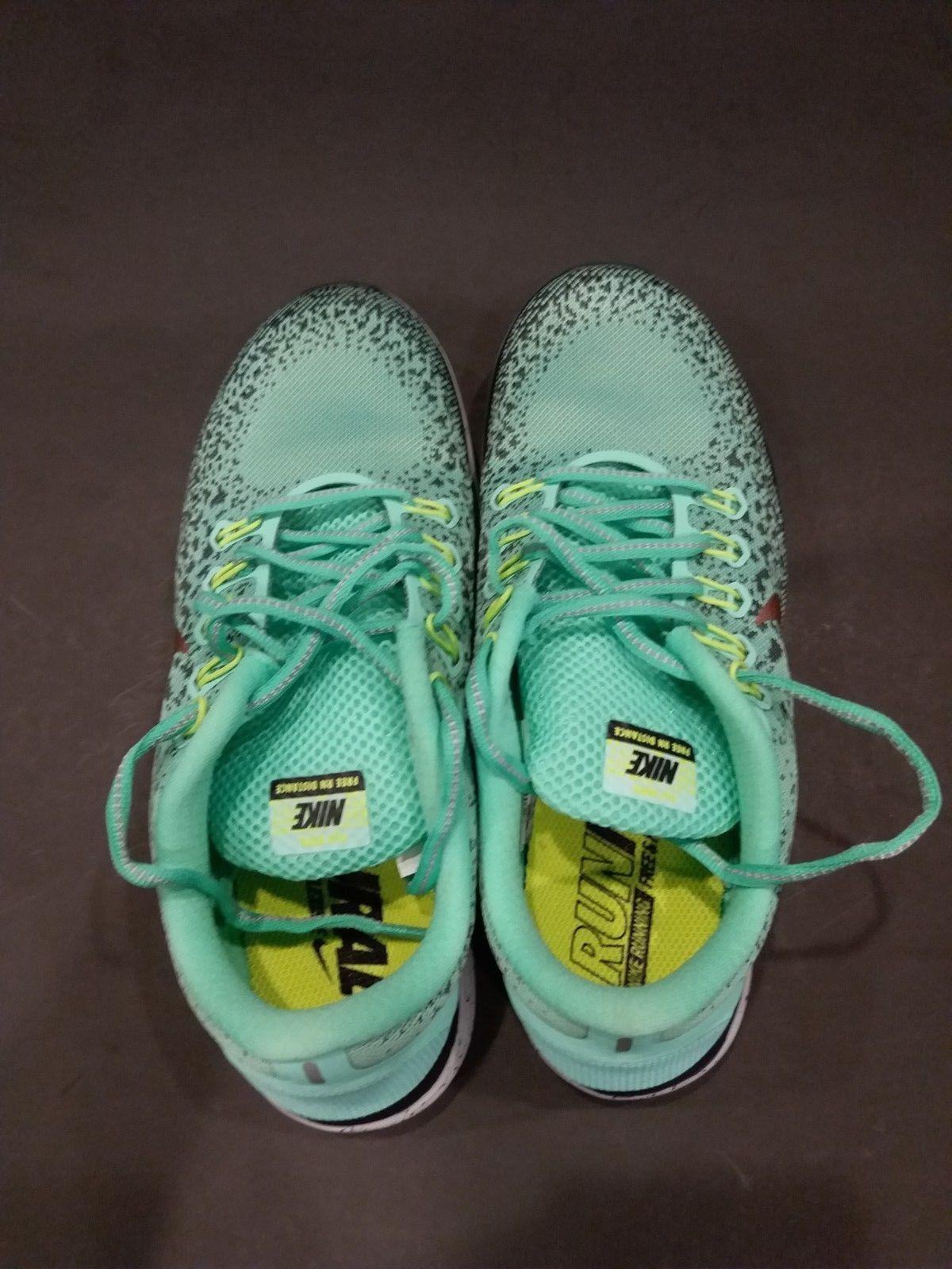 buy popular 3df96 b346e New Womens Nike Free RN Distance Shield Shoes in Green Glow 849661 300 SZ-8