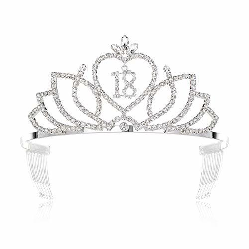 DcZeRong Princess 18th Birthday Tiara Crown 18th Birthday