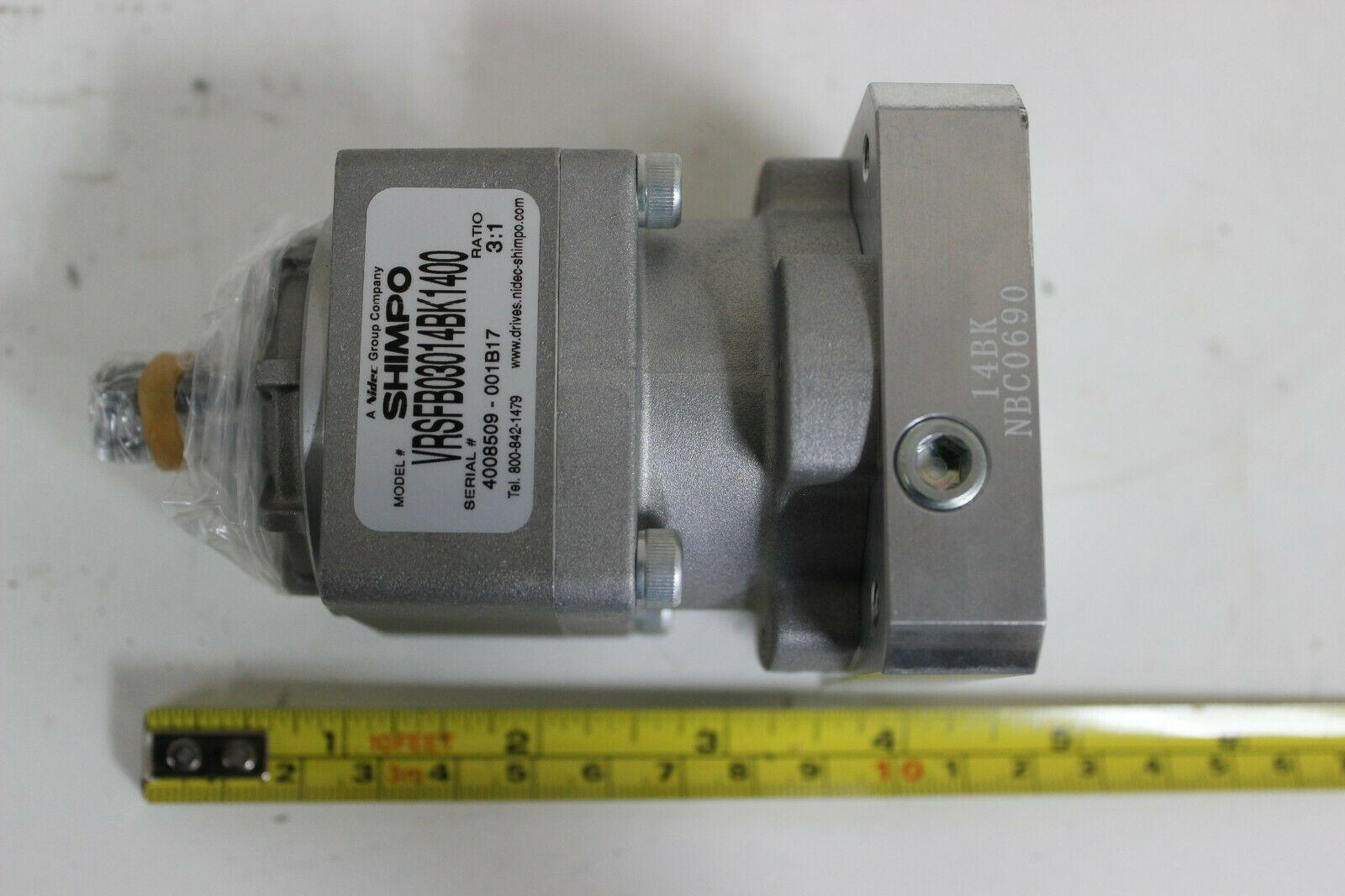 NIdec Shimpo VRSFB03014BK1400 Able Reducer Ratio 3:1 New