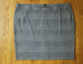 LANE BRYANT womens Plus Size 28 Houndstooth A line career Skirt New - $13.85