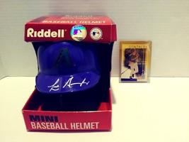 Riddell Autographed Luis Gonzalez Mini Baseball Helmet w/Topps Baseball ... - $39.99