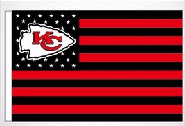 2018 Kansas City Chiefs US flag with star and stripe 3x5 FT banner - $19.99