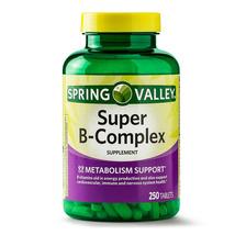 Spring Valley Super B-Complex w / Vitamin C and Folic Acid Caplets, 250 Count - $15.50