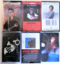 Lot of 6 Cassettees From 1980's Roy Orbison Gloria Estefan Johnny Mathis... - $8.81