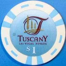 $1 Casino Chip, Tuscany, Las Vegas, NV. T46. - $3.99