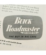 1949 Buick Print Ad Look Ahead And You'll See Roadmaster  - $13.49