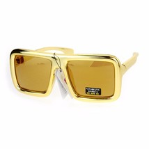 Futuristic Metallic Sunglasses Oversized Thick Square Fashion Shades UV 400 - $9.85+