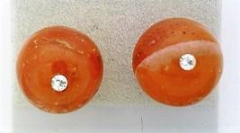 Carnelian Crystal 10mm Stud Earrings - $8.05