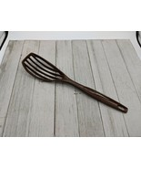 "Vintage Foley Nylon Slotted Brown Spoon Blender Whipper Whisk Strainer 11""  - $18.99"