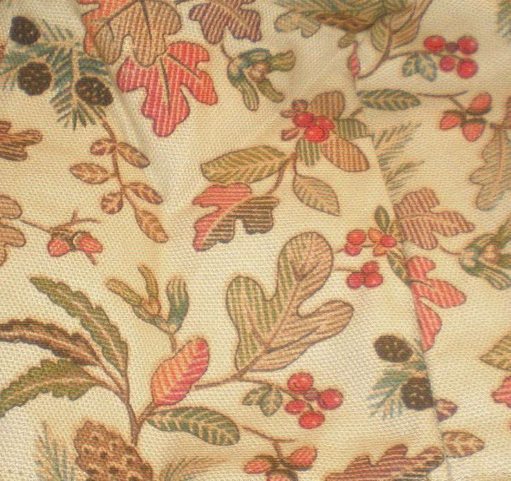 Longaberger Small Loaf Biscuit Basket Autumn Path Corded Fabric DI Liner Only