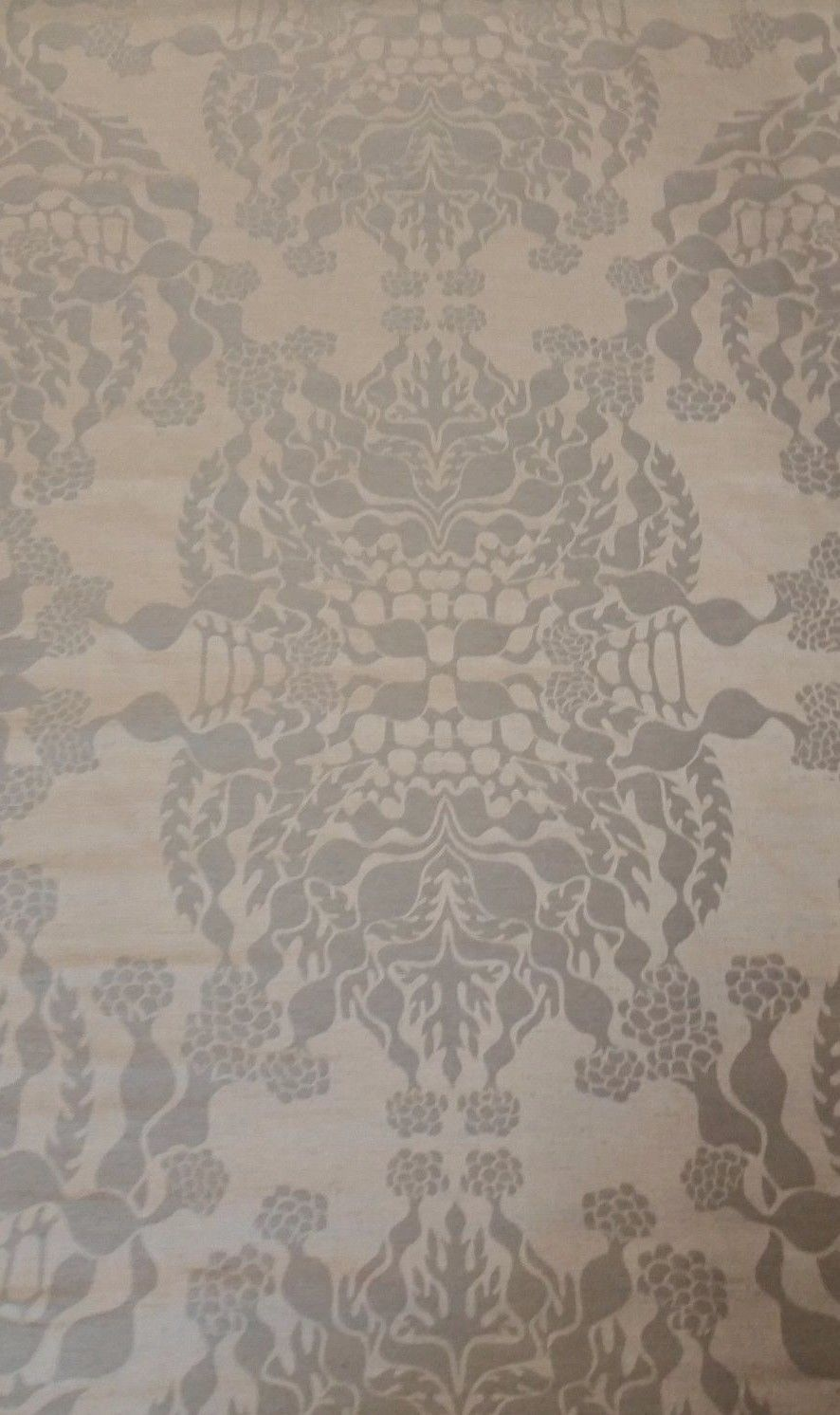 2.625 yds Knoll Luxe Upholstery Fabric Mepal Damask Nickel Silver K12315 PZ10