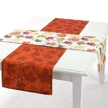Fall Thanksgiving Autumn Maple Leaves Reversible Table Runner Set (2) - $22.74